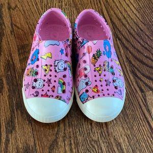 Native girls emoji shoes size 9.